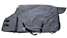 """600D Heavy Weight Horse Turnout Blanket Silver by AJ. $75.00. No center seam, prevent leaking. Fleece collar, hood rings, gusset, tail flap. Double front buckles with Velcro closure. Adjustable cross belly straps, removable elastic leg straps. 600 Denier """"Rip Stop"""" waterproof breathable outer shell. 400g poly fill insulation. Premium heavy weight horse turrnout blanket. Made with 600 denier """"Rip Stop"""" waterproof and breathable outer shell, 400g poly fill, 210D bl..."""