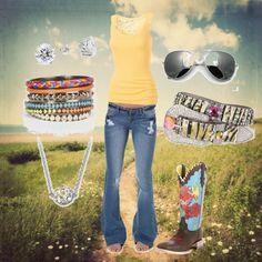 """Im Just A Summer Girl"" by ashleyelliott-1 on Polyvore"