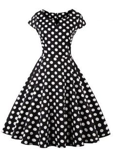 GET $50 NOW | Join RoseGal: Get YOUR $50 NOW!http://m.rosegal.com/vintage-dresses/retro-style-polka-dot-pattern-701373.html?seid=7839514rg701373