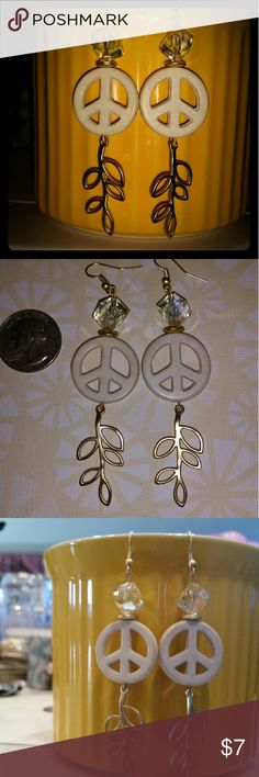 Extend the Olive branch peacefully dangles Awesomely Beautifully Perfectly PEACEFUL Earart! ! ! Perfect for Every day or a Love, Peace and Beads Halloween Costume! !! All made of high quality beads and materials! Custom handcrafted by me with tons of Love ? All 1 of a kind designs!  #Earart  #1ofakind  #uniqueisgreat  #handmadeisthebomb  #1ofakinddesigns  #Onlyuwillhave! ! ! ! ! ! ! ! ! ! ! ! ! ! ! ! ! ! ! ! my own  Jewelry Earrings