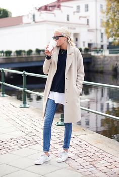 Jeans and trench