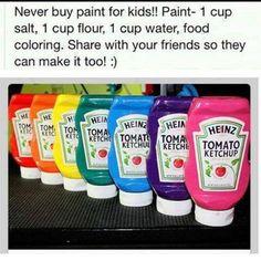 Homemade Paint for Kids https://www.facebook.com/TrucsBrico?ref=stream