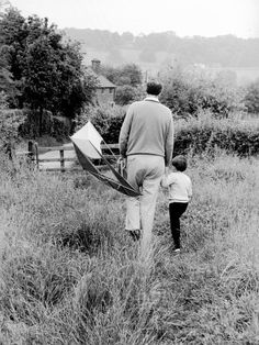 Author Roald Dahl and Son Theo at Home