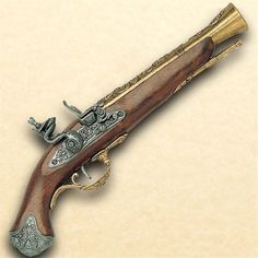 18th Century British Flintlock Blunderbuss Pistol - Brass
