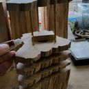Support rods and gluing up
