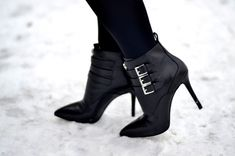 michael kors black leather booties