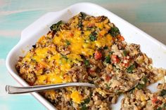 Tex Mex black eyed pea casserole!  Had this tonight & it's so yummy...perfect for Fridays during Lent!