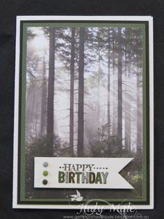 Stampin' Up! Masculine Card, Adventure Bound DSP, Big Day - Sale-a-bration stamp set