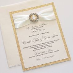 Omg I really love these modern wedding invitations. Gold Glitter Wedding, Glitter Wedding Invitations, Handmade Wedding Invitations, Elegant Wedding Invitations, Silver Glitter, Metallic, Glitter Unicorn, Country Wedding Centerpieces, Invitation Ideas