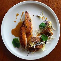 Roasted chicken breast, truffle & mushroom risotto. ✅ By - @phils_kitchen_nz ✅  #ChefsOfInstagram