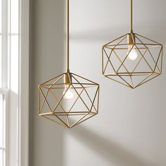 This modern Young House Love pendant has a designer look with a geometric motif. The modern fixture will do wonders for design appeal in your home! Use one or more in your on-trend kitchen.