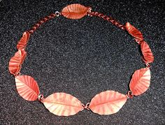 Copper leaf piece made by son