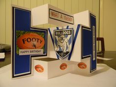 Canterbury supporter card. Stand alone cut and folded with all Canterbury elements.
