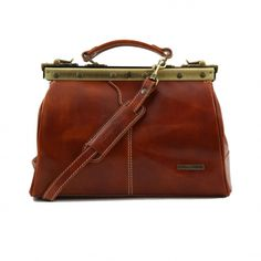 The doctor's bag. A perfectly styled men's briefcase in brown leather.   Men's Quality Bags   Swedish Mens Shirts and Suits At indumenti