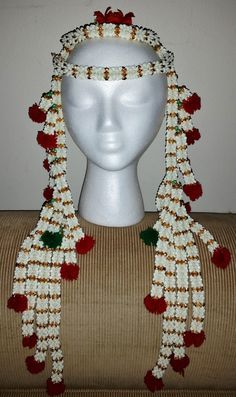 INDIAN Hindi Wedding Bride Jaimala Head Garland