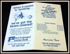 1987 ATLANTA BRAVES SPRING TRAINING BASEBALL POCKET SCHEDULE FREE SHIPPING #Pocket #SCHEDULE