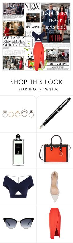 """""""The Intern 39/50"""" by mars ❤ liked on Polyvore featuring Iosselliani, Fountain, Serge Lutens, Henri Bendel, Roland Mouret, Gianvito Rossi, Gucci and C/MEO COLLECTIVE"""