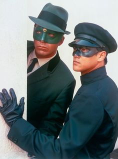 Van Williams as 'Britt Reid/Green Hornet' & Bruce Lee as 'Kato' in The Green Horney (1966-67, ABC)