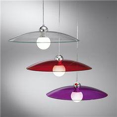 Lampade da Sospensione in vetro colorato e satinato con montatura in ...