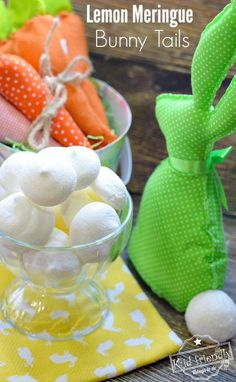 Lemon Meringue Bunny Tail Cookie Recipe for a fun Easter, spring or summer treat! http://www.kidfriendlythingstodo.com fun food idea for kids