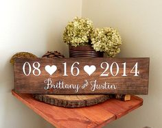 Wedding Date Sign, Wedding Name Sign, Save the Date Prop, Wedding Photo Prop, Bridal Shower Gift, Rustic Wedding, Woodland Wedding, Outdoor