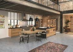J'adore ce style type industriel pour une cuisine ou un salon