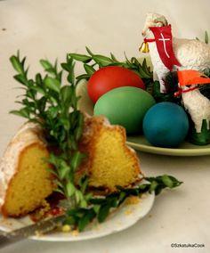 Wielkanocna baba cytrynowa Eggs, Baking, Breakfast, Food, Cakes, Holidays, Recipes, Sugar, Easter Activities