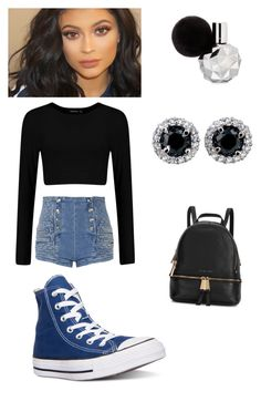 """"" by kivericdamira ❤ liked on Polyvore featuring Pierre Balmain, Converse and Michael Kors"