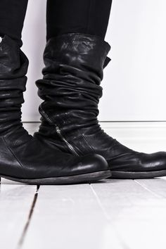 OBSCUR PRICE DROP | Size 43 High lamb leather zip boots - StyleZeitgeist