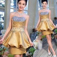 Wholesale Bridesmaid Dress - Strapless Beads Lovely Short Bridesmaid Dress Formal Dress, $71.0 | DHgate