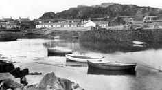 Old photograph of Easdale, Argyll, Scotland