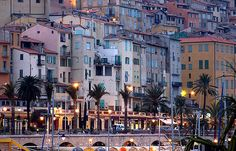 Twilight, Old Town Menton, French Riviera, via Flickr.