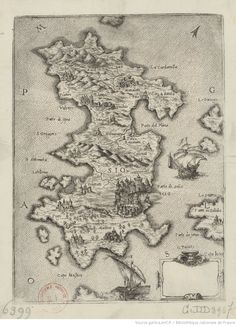Chios, Bnf, Medieval, Vintage World Maps, Culture, Cards, Mid Century, Middle Ages