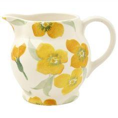 ¼ Pint Jug Yellow Wallflower - Nieuw! - Pine-apple - Importeur Emma Br