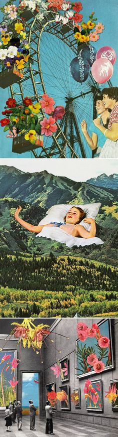 The wonderfully weird collages of California based artist Eugenia Loli. - collage is pretty sweet Collages, Photomontage, Pop Art, Art Du Collage, Vintage Illustration, Eugenia Loli, Kunst Online, Illustrator, Arte Pop