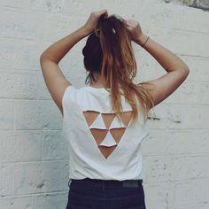 10 DIY pour customiser un T-shirt blanc