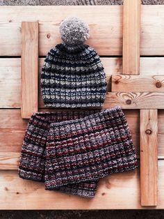 Helppo tupsupipo ja kauluri talvisävyissä | Meillä kotona Hush Hush, Dory, Handicraft, Mittens, Knitted Hats, Knit Crochet, Winter Hats, Beanie, Pattern