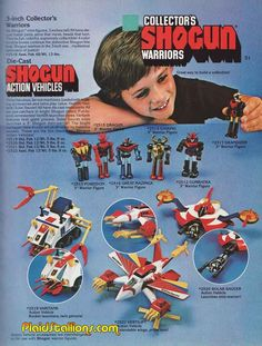 SHOGUN WARRIORS - Before Transformers there were Shogun Warriors! In the early 80's my Japanese friends in Australia introduced me to these and I was obsessed! All I wanted was a Shogun Warrior for Xmas. Alas I never got one. It was substituted for a .22 Rifle for use at the gun club and our farm. Not a bad substitute in hindsight!