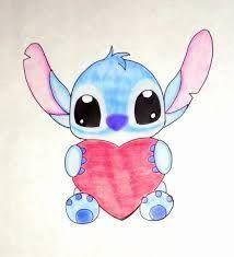 I love this Stitch drawing and I gonna put it with Heathers 'cuase I know she likes Disney! Easy Pictures To Draw, Cute Love Pictures, Simple Pictures, Easy To Draw, Tumblr Drawings, Kawaii Drawings, Cartoon Drawings, Marvel Drawings, Disney Stitch