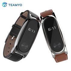 New Mijobs Leather Strap For Xiaomi Mi Band 2 Wrist Straps Screwless Bracelet Smart Band Replace Accessories For Mi Band 2