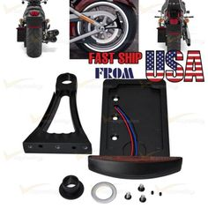 69155 motorcycle-parts Motorcycle Side Mount License Plate Tail Light Bracket For Harley Bobber Chopper  BUY IT NOW ONLY  $36.99 Motorcycle Side Mount License Plate Tail Light Bracket For Harley Bobber Chopper...
