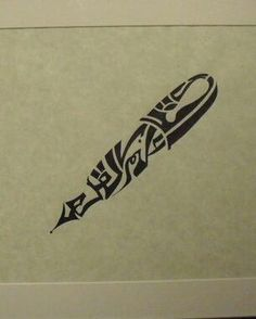 a tribal pen, this would be an awesome tattoo for a writer