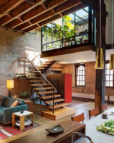 soudasouda: @SoudaBrooklyn / @interiordesignmag: Reclaimed materials, including a retractable glass roof and architectural metalwork, help make this restored TriBeCa loft both sustainable and rustic. Andrew Franz Architect included fluid connections with the rooftop from the mezzanine and open interior to optimize the possibilities for entertaining and enjoying sunlight from the inside. #architecture #interiors #design #interiordesign @andrewfranzarchitectFollow Souda on Tumblr