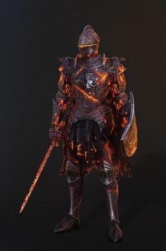 ArtStation - Fire armor, Vitalii Shevchenko Dark Souls Armor, Sif Dark Souls, Fantasy Armor, Medieval Fantasy, High Fantasy, Dark Fantasy Art, Fantasy Character Design, Character Art, Character Concept