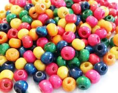 Wooden Beads   5mm wooden beads   Multicolor Wood Beads   Jewelry Supplies   Rainbow Wood Beads   Orange Wood Beads, Red Wooden Beads, w9745 by vickysjewelrysupply. Explore more products on http://vickysjewelrysupply.etsy.com