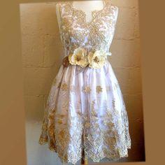 Golden party dress prom dress formal dress by GlamDuchess on Etsy
