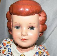 Schildkroet-Puppe-VERA-gem-46-Raute-orig-Kleidung-sehr-selten-Vintage-50erJahre