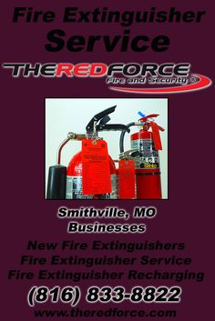 Fire Extinguisher Inspections Smithville, MO (816) 833-8822 Check out The Red Force Fire and Security.. The Complete Source for Fire Protection in Missouri. Call us Today!