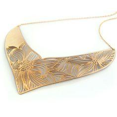 Maasai Necklace Swirl Gold Plate
