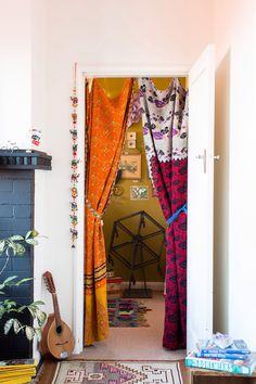 closet, color, curtains